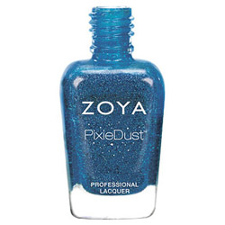 Zoya Nail Polish - PixieDust - Liberty #ZP681 0.5 oz Express your freedom with this sparkly blue matte nail polish. Zoya nail lacquers are the longest wearing natural nail lacquers and come in luscious, fashion forward colors. ZOYA does NOT contain formaldehyde, toluene or dibutyl phthalate (DBP).