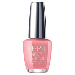 OPI Infinite Shine 2 - Excuse Me, Big Sur! 0.5 oz Strut your stuff wearing this ravishing flamingo pink nail lacquer! OPI's Infinite Shine nail lacquers are crafted with high impact pigments that keep the color rich and true to its shade. Prolongs your mani-pedi and gives a beautiful, brilliant shine!