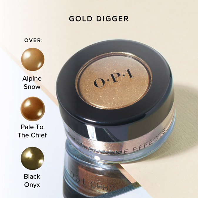 OPI Chrome Effects Nail Powder - Gold Digger | Beauty Care Choices