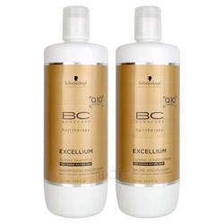 BC Bonacure Excellium Taming Liter Shampoo/Conditioner Set  2 piece