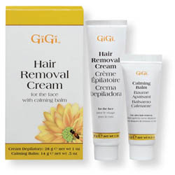 GiGi Hair Removal Cream for Face with Calming Balm Kit 2 piece