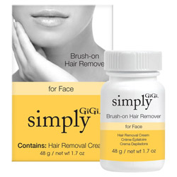 GiGi Simply Brush-on Hair Remover for Face 1.7 oz