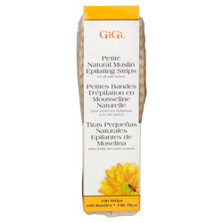 GiGi Natural Muslin Epilating Strips - 3/4 x 4 1/2 inches Petite