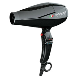 Babyliss PRO Nano Titanium Volare V1 Full-Size Dryer Black Delivers intense air pressure & features a turbo button for an extra powerful burst of air for faster drying times. Features a Ferrari inspired design made in Italy, Nano titanium technology with 2000 watt power, 2 accessory nozzles, 6 heat/speed controls & a True Cold air shot.