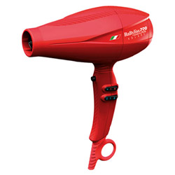 Babyliss PRO Nano Titanium Volare V1 Full-Size Dryer Red Delivers intense air pressure & features a turbo button for an extra powerful burst of air for faster drying times. Features a Ferrari inspired design made in Italy, Nano titanium technology with 2000 watt power, 2 accessory nozzles, 6 heat/speed controls & a True Cold air shot.