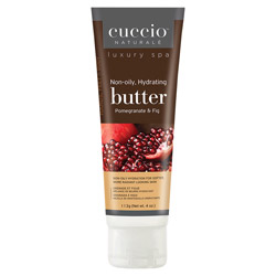 Cuccio Naturale Pomegranate & Fig Butter Blend 4 oz Cuccio Naturale's Pomegranate & Fig Butter Blend leaves skin extremely soft with a dewy finish. Lasts five times longer than ordinary lotion.