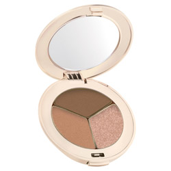 Jane Iredale PurePressed Eye Shadow Trio Triple Cognac Change your look from soft and elegant to edgy and sleek. These silky shadows are highly pigmented and long-lasting. They easily blend on the lids to create any look.