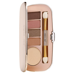 Jane Iredale Eye Shadow Kit - Naturally Glam 1 piece Give your eyes a beautiful make-up look with this eye shadow kit. Features 5 brilliant eye shadow shades to create the perfect day time or night time look for you. High pigmented shades are crease-resistant, long-lasting and easily blendable. Packaged in a sleek mirrored, rose gold compact to make it easy to take on the go.
