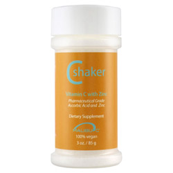 Malibu C C Shaker Vitamin C with Zinc 3 oz It's crystals of Vitamin C and Zinc you activate.  These essential micronutrients help boost your immune system and can do so much more!  This 100% vegan product will: Give your skin an extra boost of anti-oxidant, anti-aging skin care.  Just add a sprinkle to your body moisturizer and rub hands together to mix before applying to skin. Remove impurities like chlorine from your drinking water. Just add a shake to the glass of water first. Purify your bath water and help neutralize the chlorine.  Sprinkle some in before you step into the water. Slow the discoloration and reduce spoilage of fruits and vegetables.  Just a quick soak in water with a little Vitamin C Shaker will minimize oxidation.