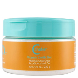 Malibu C C Shaker Vitamin C with Zinc  7.76 oz It's crystals of Vitamin C and Zinc you activate.  These essential micronutrients help boost your immune system and can do so much more!  This 100% vegan product will: Give your skin an extra boost of anti-oxidant, anti-aging skin care.  Just add a sprinkle to your body moisturizer and rub hands together to mix before applying to skin. Remove impurities like chlorine from your drinking water. Just add a shake to the glass of water first. Purify your bath water and help neutralize the chlorine.  Sprinkle some in before you step into the water. Slow the discoloration and reduce spoilage of fruits and vegetables.  Just a quick soak in water with a little Vitamin C Shaker will minimize oxidation.
