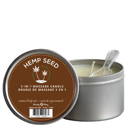 Earthly Body Hemp Seed 3-in-1 Massage Candle