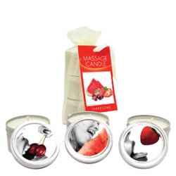 Earthly Body Massage Candle Threesome Gift Set