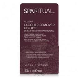 SpaRitual Fluent Lacquer Remover Cloths 100 piece Extra Strength Conditioning Lacquer Remover Cloths