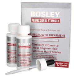 Bosley Professional Strength Hair Regrowth Treatment Extra Strength for Men 2 piece