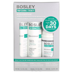Bosley Professional Strength Bos Defense Starter Pack for Non Color-Treated Hair 3 piece