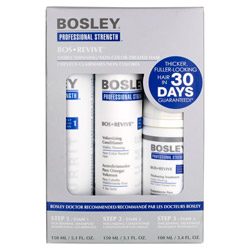 Bosley Professional Strength Bos Revive Starter Pack for Non Color-Treated Hair 3 piece