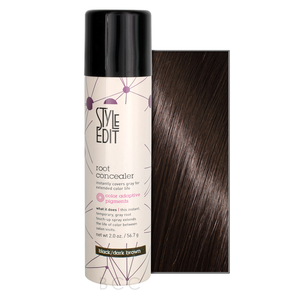 style edit hair color spray style edit root concealer 2 oz brown care 8035 | 32040