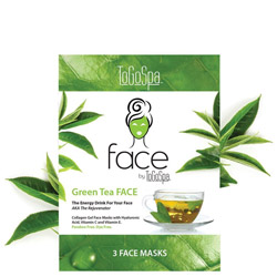 ToGoSpa Green Tea FACE by ToGoSpa - Collagen Gel Face Masks