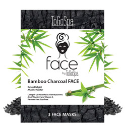 ToGoSpa Bamboo Charcoal FACE by ToGoSpa - Collagen Gel Face Masks