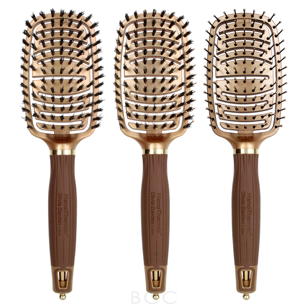 Olivia Garden Nanothermic Ceramic Ion Flex Brush Collection Beauty Care Choices