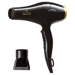 Olivia Garden Ceramic + Ion High Performance Professional Hair Dryer Blow dry your hair like never before with the Ceramic + Ion High Performance Professional Hair Dryer. An ultra lightweight blow dryer that has a 1875 watt motor to help you achieve fast drying.  Its +Ion generator seals in moisture and eliminates frizz for sleek perfection. Leaves hair with a gleaming shine and prevents future heat damage. 2 speeds + 3 heat settings + cool shot. Ergonomic handle design. 2 nozzles - 65mm and 80mm. Removable air filter. 9 ft. long cord with hang loop.