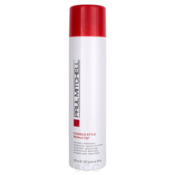 Paul Mitchell Flexible Style Worked Up - Quick Drying Working Spray 9.4 oz Working Spray has a medium hold and a fine mist that dries on contact. Hair style is in place yet touchable and flexible. A clean hold gives you the option to layer with out dulling build-up.