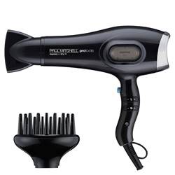 Paul Mitchell Pro Tools Express Ion Dry+ 1 piece This professional Express Ion Dryer has a gentle airflow that helps to prevent frizz and a cool shot for locking in style instantly. Has 5 temperature and speed settings.