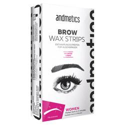 Andmetics Brow Wax Strips Women 1 kit