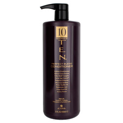 Alterna Ten Perfect Blend Conditioner 31 oz Keep your hair replenished with moisture with this conditioner. A paraben-free, hydrating conditioner that transforms your hair from ordinary to extraordinary. Made with the perfect fusion of ten key elements, including white truffle oil for healthy keratin formation. Hair is left silky smooth with a gleaming shine.