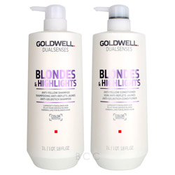 Goldwell Dualsenses Blondes & Highlights Liter Shampoo/Conditioner Set