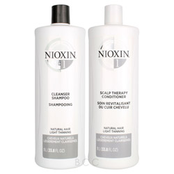 NIOXIN System 1 Liter Shampoo/Conditioner Set  2 piece