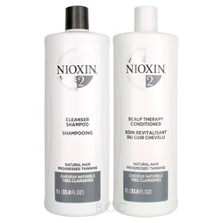 NIOXIN System 2 Liter Shampoo/Conditioner Set  2 piece
