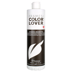 Framesi Color Lover Dynamic Brunette Shampoo 16.9 oz Enjoy your brunette in all its crowning glory and keep it fresh with Color Lover Dynamic Shampoo - Brunette.  Rich, vibrant brunette hair is truly stunning.  This shampoo will keep color true 95% longer than ordinary shampoo.  Plus it is gluten, paraben, DEA and sulfate free.