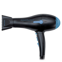 Bio Ionic PowerLight Professional Hair Dryer Black Get softer, faster blow drying results with the PowerLight Professional Hair Dryer - Black. Designed with nano beads that speed up drying time while eliminating frizz and static. Protects, hydrates and conditions your hair with its NanoIonic minerals and cleanses and deodorizes with its Negative Ions.