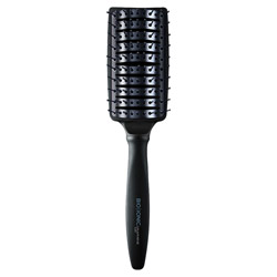 Bio Ionic Graphene MX Styling Paddle Brush 1 piece Brush your hair with ease, comfort and style with this styling paddle brush. Designed with air vents to provide increased airflow for faster styling. Conducts even heat when used with a hair dryer to perfect your styling. Has a soft touch ergonomic handle for ease and comfort.