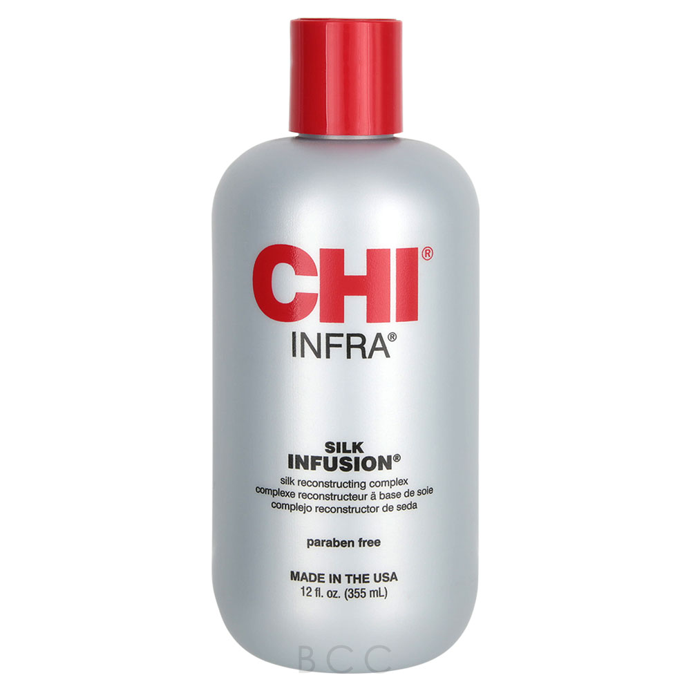 how to use chi silk infusion with flat iron
