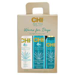 CHI Aloe Vera w/ Agave Nectar - Waves For Days Kit