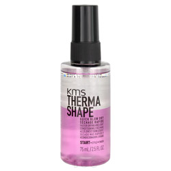 KMS Therma Shape Quick Blow Dry 2.5 oz No more worrying about being in a hurry. Introducing the Therma Shape Quick Blow Dry. Speeds up dry time up to 50% and lightly conditions the hair. Helps to reduce friction and breakage and leaves your hair feeling full and soft.