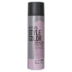 KMS Style Color Spray on Color Vintage Blush Experiment color without the commitment with the Style Color Spray On Color. A waterproof color spray that delivers rich color pigment onto the hair. Builds an ultra-thin film of color to give your hair mobility and flexibility without the crunch. Gives you the ability to work with color without having to go all in. Works perfectly with hot tools and is pillow-friendly.