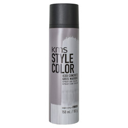 KMS Style Color Spray on Color Iced Concrete Experiment color without the commitment with the Style Color Spray On Color. A waterproof color spray that delivers rich color pigment onto the hair. Builds an ultra-thin film of color to give your hair mobility and flexibility without the crunch. Gives you the ability to work with color without having to go all in. Works perfectly with hot tools and is pillow-friendly.