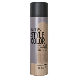 KMS Style Color Spray on Color Dusky Blonde Experiment color without the commitment with the Style Color Spray On Color. A waterproof color spray that delivers rich color pigment onto the hair. Builds an ultra-thin film of color to give your hair mobility and flexibility without the crunch. Gives you the ability to work with color without having to go all in. Works perfectly with hot tools and is pillow-friendly.