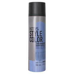 KMS Style Color Spray on Color  Stone Wash Denim Experiment color without the commitment with the Style Color Spray On Color. A waterproof color spray that delivers rich color pigment onto the hair. Builds an ultra-thin film of color to give your hair mobility and flexibility without the crunch. Gives you the ability to work with color without having to go all in. Works perfectly with hot tools and is pillow-friendly.