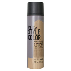KMS Style Color Spray on Color Brushed Gold Experiment color without the commitment with the Style Color Spray On Color. A waterproof color spray that delivers rich color pigment onto the hair. Builds an ultra-thin film of color to give your hair mobility and flexibility without the crunch. Gives you the ability to work with color without having to go all in. Works perfectly with hot tools and is pillow-friendly.