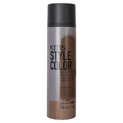 KMS Style Color Spray on Color Raw Mocha Experiment color without the commitment with the Style Color Spray On Color. A waterproof color spray that delivers rich color pigment onto the hair. Builds an ultra-thin film of color to give your hair mobility and flexibility without the crunch. Gives you the ability to work with color without having to go all in. Works perfectly with hot tools and is pillow-friendly.