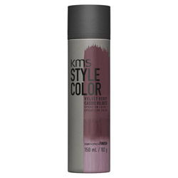 KMS Style Color Spray on Color Velvet Berry Experiment color without the commitment with the Style Color Spray On Color. A waterproof color spray that delivers rich color pigment onto the hair. Builds an ultra-thin film of color to give your hair mobility and flexibility without the crunch. Gives you the ability to work with color without having to go all in. Works perfectly with hot tools and is pillow-friendly.