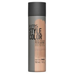 KMS Style Color Spray on Color Nude Peach Experiment color without the commitment with the Style Color Spray On Color. A waterproof color spray that delivers rich color pigment onto the hair. Builds an ultra-thin film of color to give your hair mobility and flexibility without the crunch. Gives you the ability to work with color without having to go all in. Works perfectly with hot tools and is pillow-friendly.
