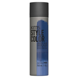 KMS Style Color Spray on Color Inked Blue Experiment color without the commitment with the Style Color Spray On Color. A waterproof color spray that delivers rich color pigment onto the hair. Builds an ultra-thin film of color to give your hair mobility and flexibility without the crunch. Gives you the ability to work with color without having to go all in. Works perfectly with hot tools and is pillow-friendly.