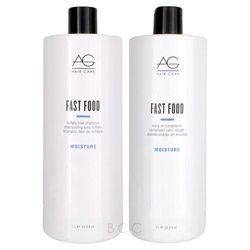 AG Hair Cosmetics Fast Food Shampoo and Leave on Conditioner Liter Duo