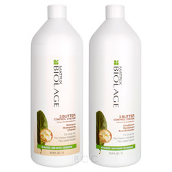 Matrix Biolage 3 Butter Control System Liter Shampoo/Conditioner Set  2 piece
