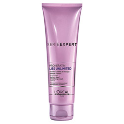 Loreal Professionnel Serie Expert Liss Unlimited ProKeratin Thermo Smoothing Cream 5.1 oz This smoothing blow-dry cream is heat activated.  It provides protection against damage as it smooths frizz.  The Pro-Keratin Complex reinforces the hair fiber.  Oil extracts, including KuKui and Evening Primrose made hair easy to blow-dry.  You get 4 days of smoothness in up to 80% humidity.